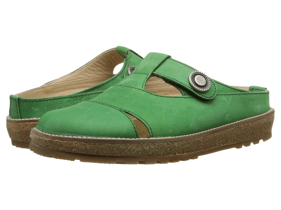 Haflinger - Virtue (Emerald) Women's Slip on Shoes