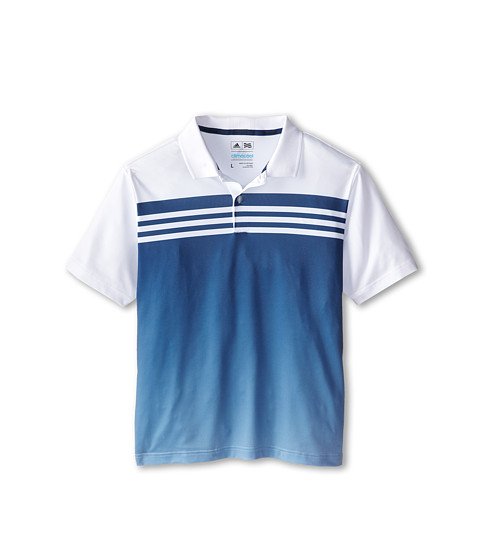 adidas Golf Kids - 3 Stripes Gradient Polo (Big Kids) (White/Night Marine) Boy