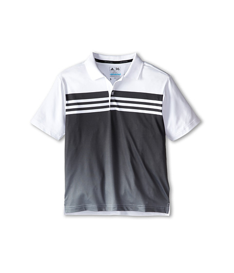 adidas Golf Kids - 3 Stripes Gradient Polo (Big Kids) (White/Black) Boy's Short Sleeve Pullover