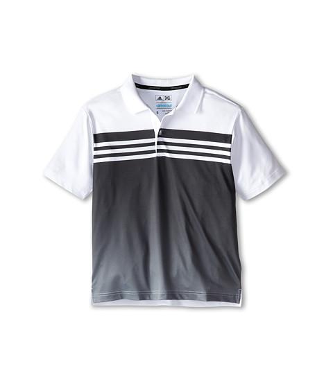 adidas Golf Kids - 3 Stripes Gradient Polo (Big Kids) (White/Black) Boy's Short Sleeve Pullover