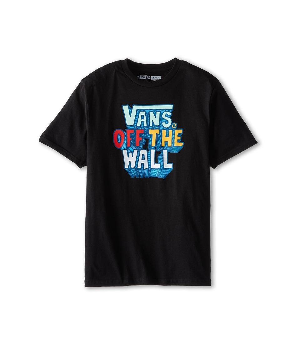 Vans Kids - Skoolhouse Tee (Big Kids) (Black) Boy's T Shirt