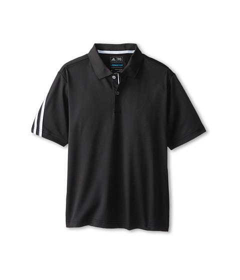 adidas Golf Kids - 3 Stripe Polo (Big Kids) (Black/White) Boy