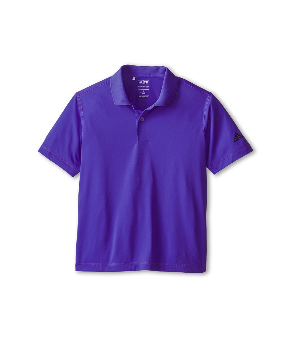 adidas Golf Kids - Solid Jersey Polo (Big Kids) (Night Flash) Boy's Short Sleeve Pullover