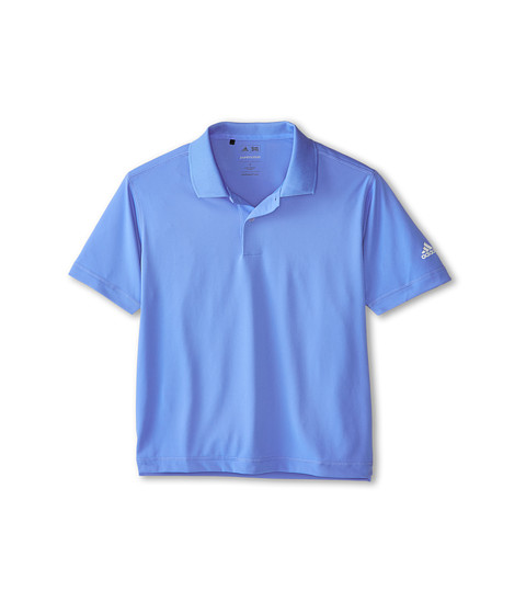 adidas Golf Kids - Solid Jersey Polo (Big Kids) (Lucky Blue) Boy