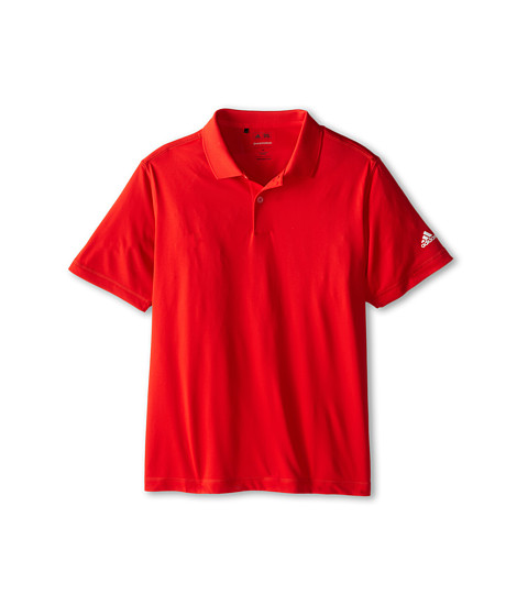adidas Golf Kids - Solid Jersey Polo (Big Kids) (Red) Boy's Short Sleeve Pullover