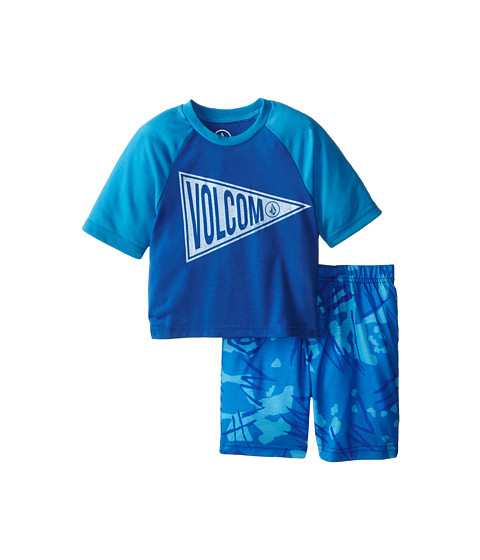 Volcom Kids - Checked Out PJ Set (Toddler/Little Kids) (Electric Blue) Boy