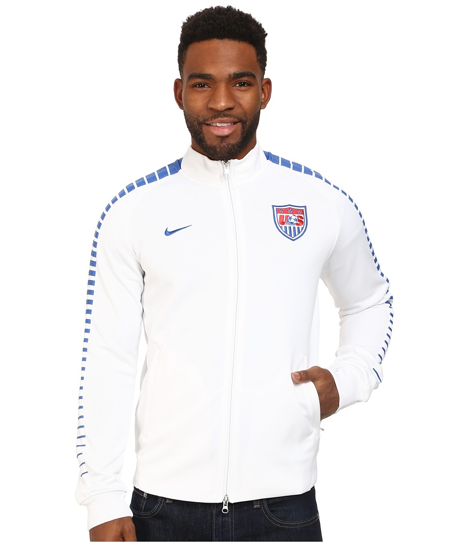 Nike - N98 USA Authentic Track Jacket (White/White/Game Royal) Men's Jacket