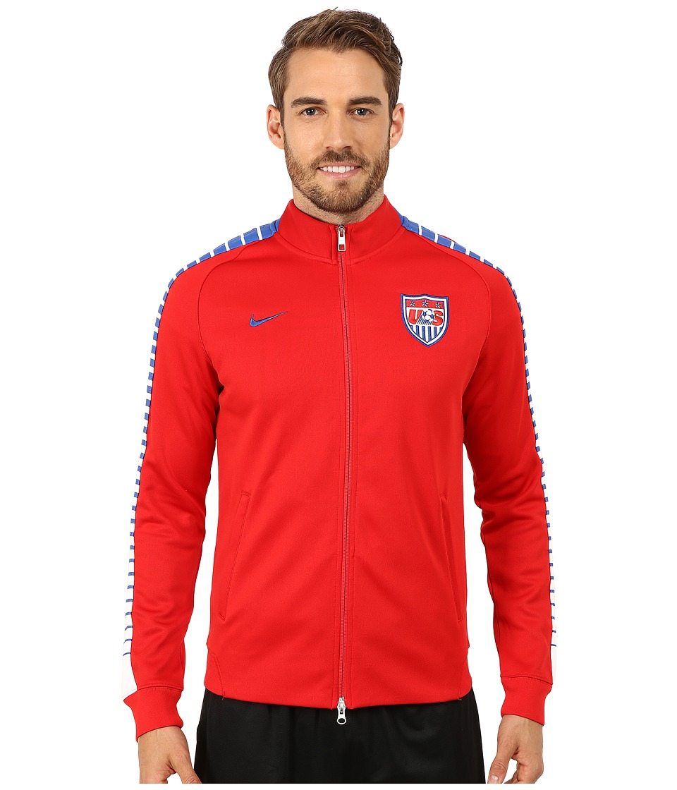 Nike - N98 USA Authentic Track Jacket (University Red/White/Game Royal) Men's Jacket
