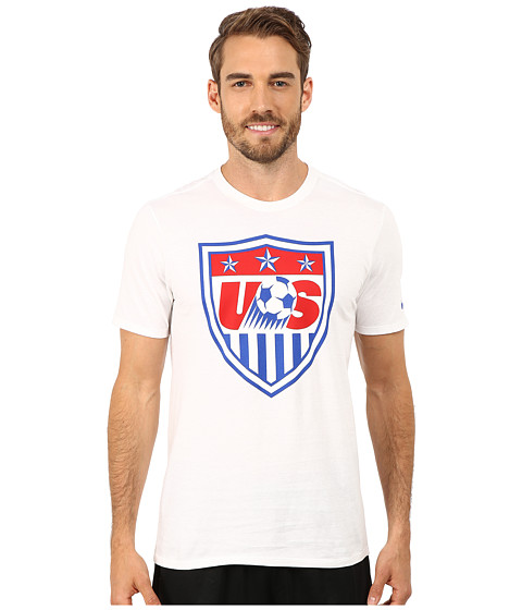 Nike - USA Core Crest Tee (White/White) Men's T Shirt
