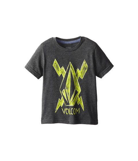 Volcom Kids - Cross Bolt S/S Tee (Toddler/Little Kids) (Heather Black) Boy's T Shirt