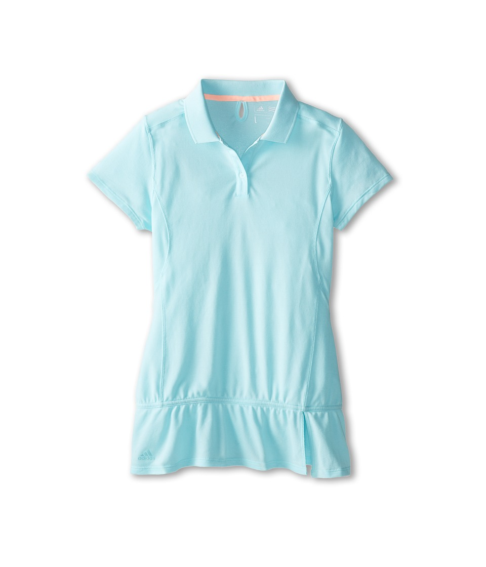 adidas Golf Kids - CLIMALITE Advance Pique S/S Polo (Big Kids) (Clear Aqua) Girl