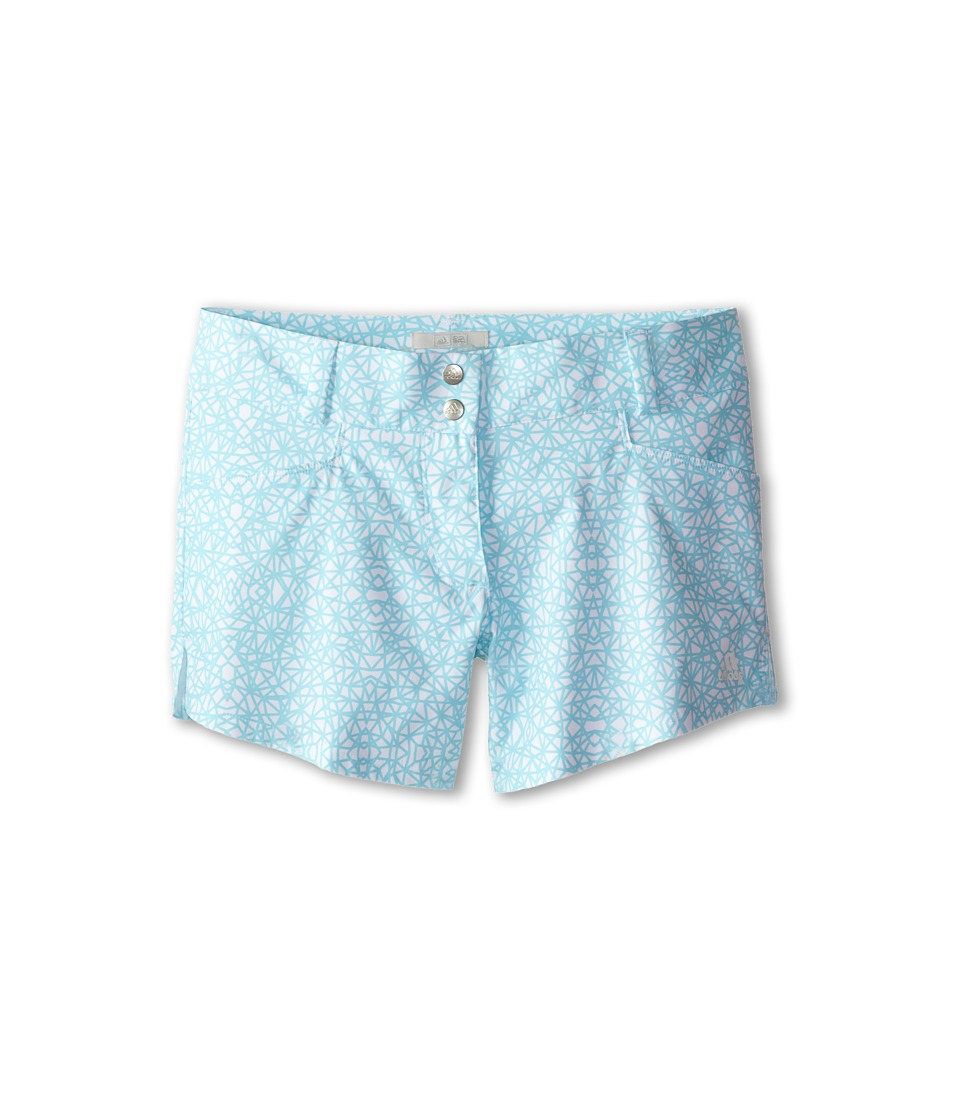 adidas Golf Kids - Advance Deco Print Short (Big Kids) (White/Clear Aqua) Girl