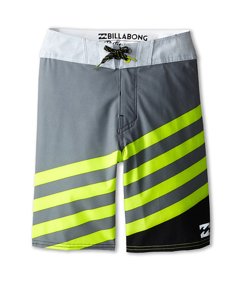 Billabong Kids - Slice X Boardshorts (Big Kids) (Char/Lime) Boy