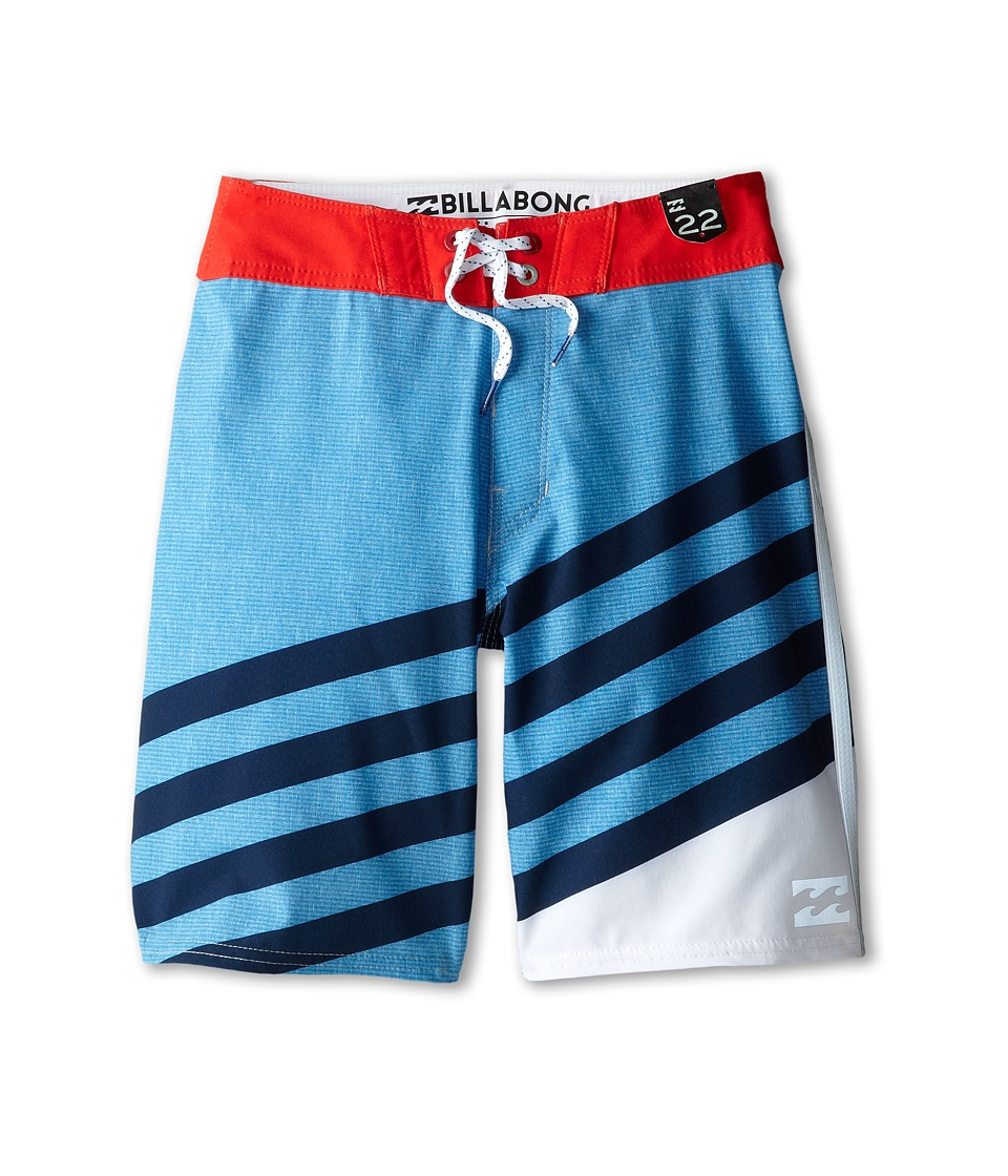 Billabong Kids - Slice X Boardshorts (Big Kids) (Royal White) Boy's Swimwear