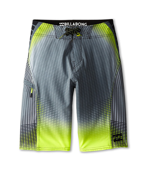 Billabong Kids - Fluid X Boardshorts (Big Kids) (Black/Neo Lime) Boy's Swimwear