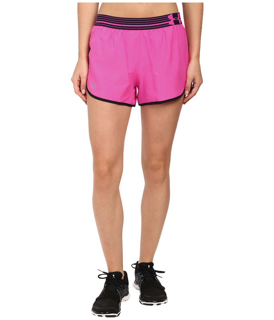 Under Armour - UA Perfect Pace Short (Rebel Pink/Black/Reflective) Women's Shorts