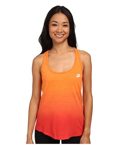 Nike - Gym Vintage Tank - Dip Dye (Bright Mandarin/Rio/White) Women