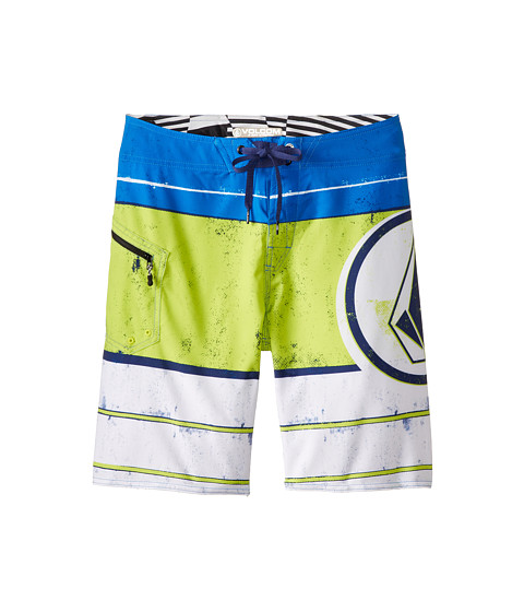 Volcom Kids - Lido Ion Boardshort (Big Kids) (White) Boy's Swimwear