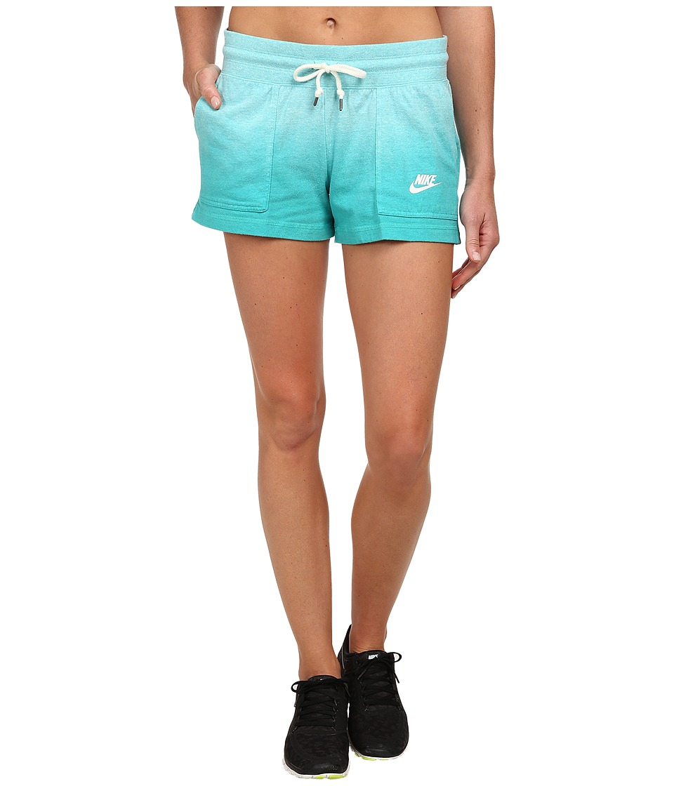 Nike - Gym Vintage Short - Dip Dye (Light Aqua/Light Retro/White) Women's Shorts