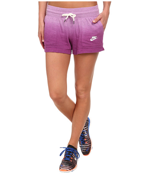 Nike - Gym Vintage Short - Dip Dye (Violet Shock/Bold Berry/White) Women's Shorts