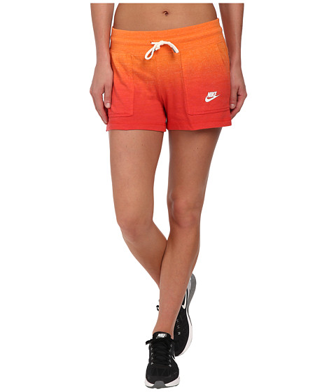 Nike - Gym Vintage Short - Dip Dye (Bright Mandarin/Rio/White) Women
