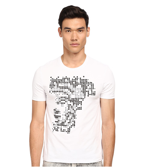 Versace Collection - Studded Medusa Tee (White/Black) Men