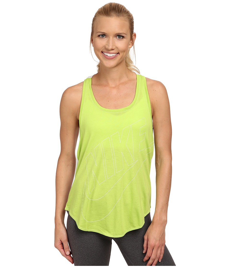 Nike - Signal Relaxed Tank (Chartreuse/White/White) Women