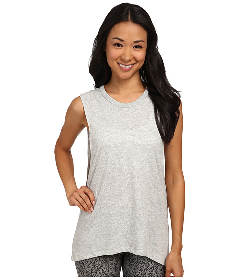 Nike - Signal Muscle Tank (Grey Heather/White) Women's Sleeveless