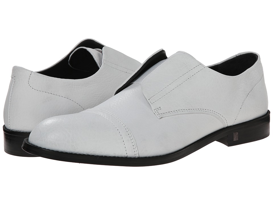 Versace Collection - Laceless Cap Toe Oxford (White) Men's Lace Up Cap Toe Shoes