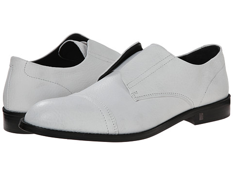 Versace Collection - Laceless Cap Toe Oxford (White) Men