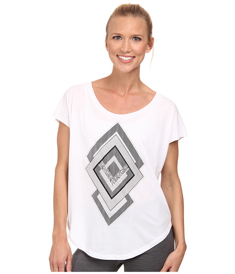 Nike - Signal Diamonds Tee (White/Black) Women's T Shirt