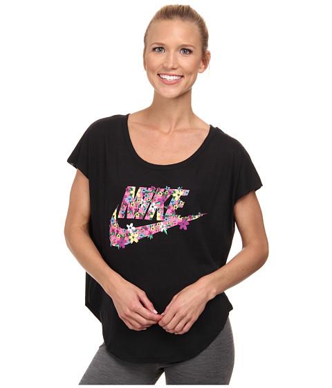 Nike - Signal Blazer Tee (Black/Pink Pow) Women's T Shirt