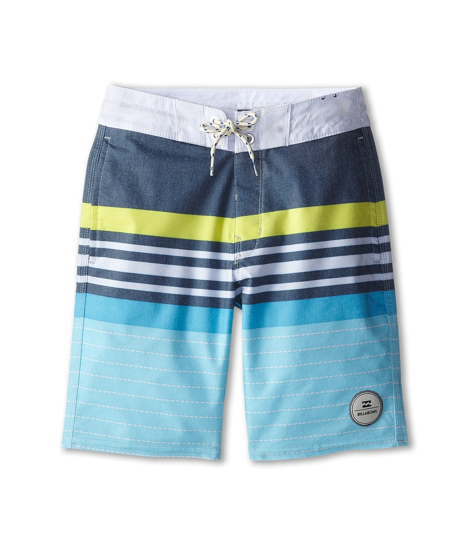 Billabong Kids - Spinner Boardshorts (Big Kids) (Army/Blue) Boy's Swimwear