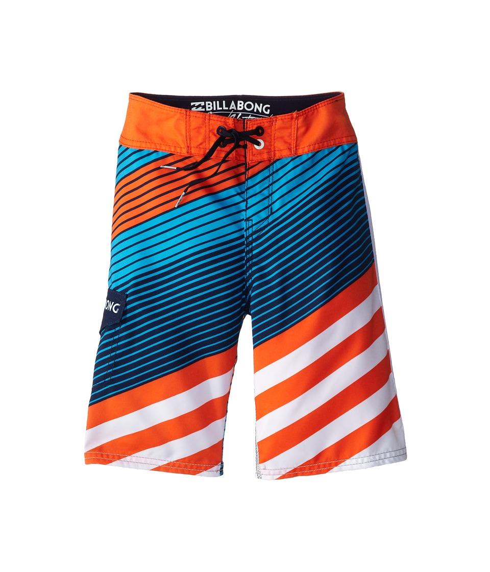 Billabong Kids - Slice Boardshorts (Big Kids) (Orange) Boy's Swimwear