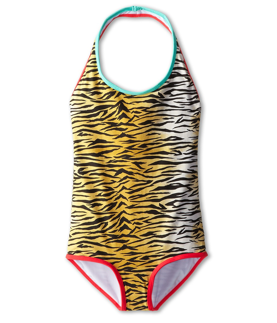 Billabong Kids - We Love The Wild One-Piece (Little Kids/Big Kids) (Off Black) Girl's Swimsuits One Piece