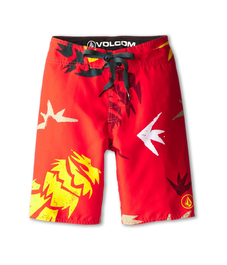 Volcom Kids - Lada Lane Boardshort (Big Kids) (Why Rock Red) Boy's Swimwear