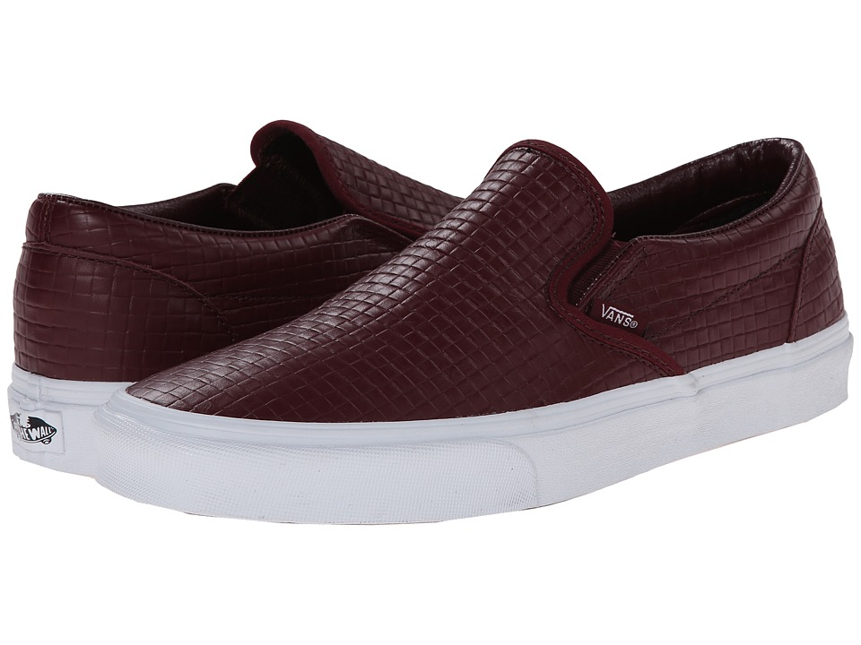 Vans - Classic Slip-On ((Emboss Check) Port Royale Leather) Skate Shoes