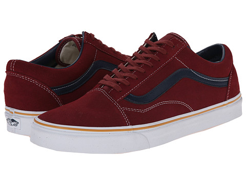 Vans - Old Skool ((Suede Leather) Oxblood Red) Skate Shoes