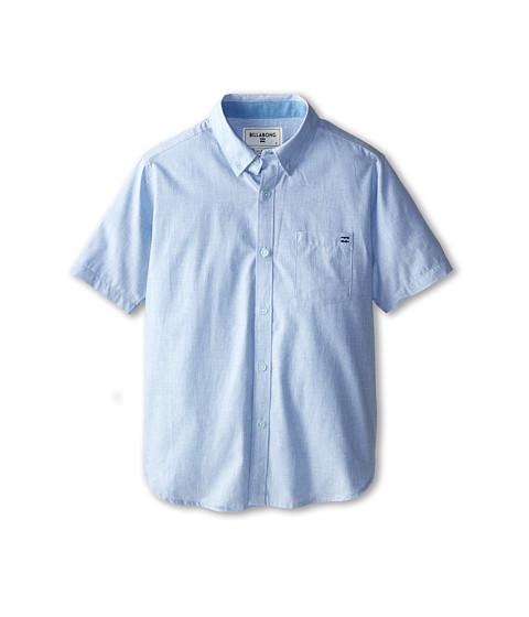 Billabong Kids - All Day S/S Woven (Big Kids) (Light Blue) Boy