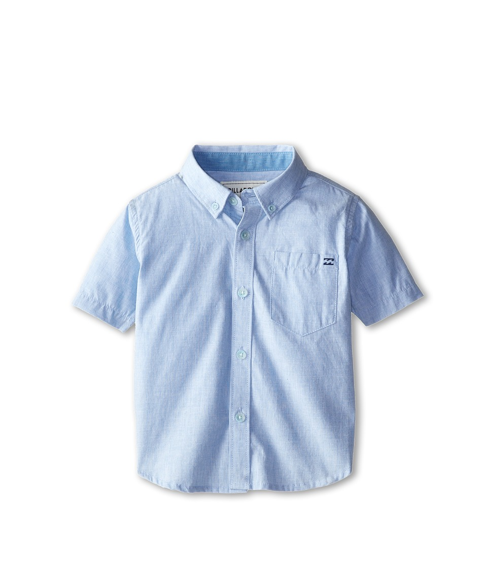 Billabong Kids - All Day S/S Woven (Toddler/Little Kids) (Light Blue) Boy's Short Sleeve Button Up
