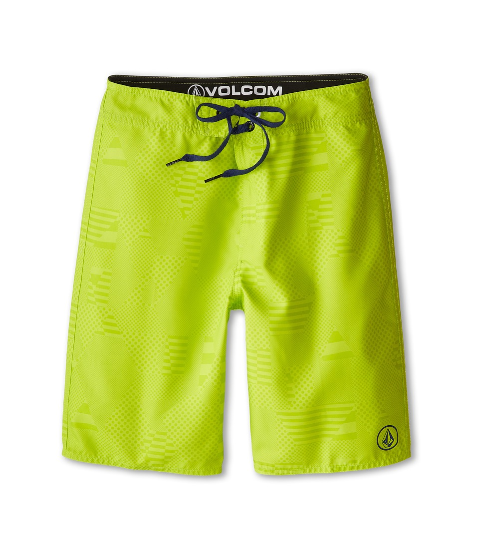 Volcom Kids - 38th St. Boardshorts (Big Kids) (Lime) Boy
