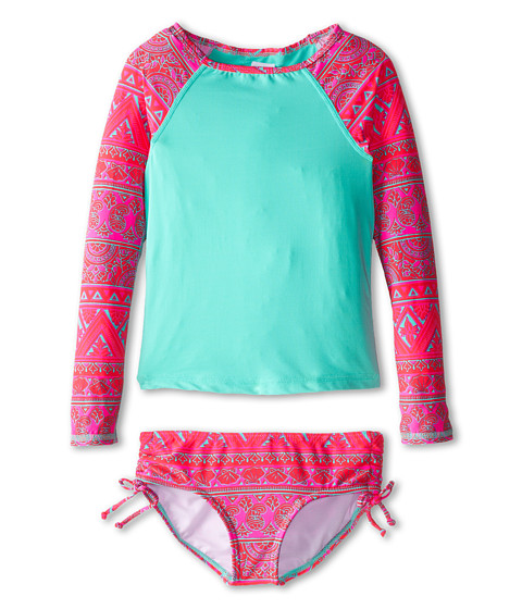 Billabong Kids - Hippie Grom Rashguard / Swim Set (Little Kids/Big Kids) (Multi) Girl's Swimwear Sets