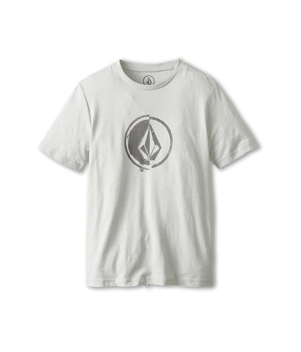 Volcom Kids - Stacking Surf Tee (Little Kids/Big Kids) (Cement Grey) Boy's T Shirt