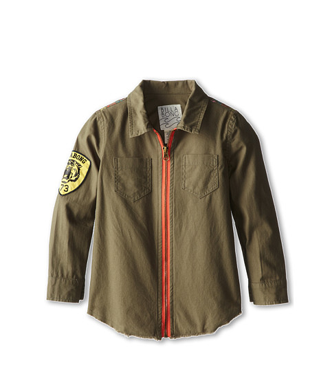 Billabong Kids - Keep Dreamin Woven Military Jacket (Little Kids/Big Kids) (Grunge Green) Girl