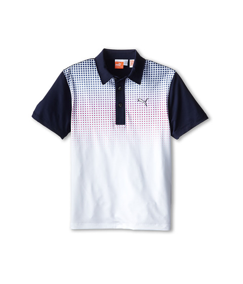 PUMA Golf Kids - Glitch Polo (Big Kids) (Peacoat/Vivid Viola) Boy's Short Sleeve Knit