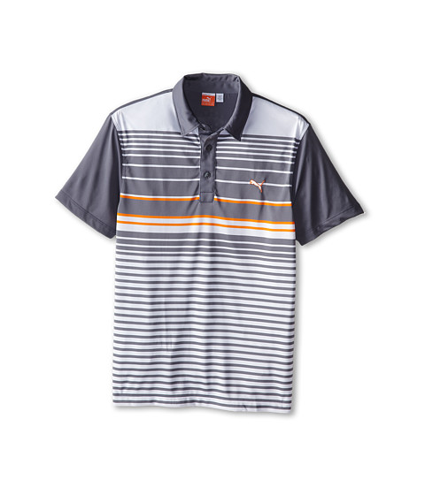 PUMA Golf Kids - YD Stripe Polo (Big Kids) (Folkstone Gray) Boy