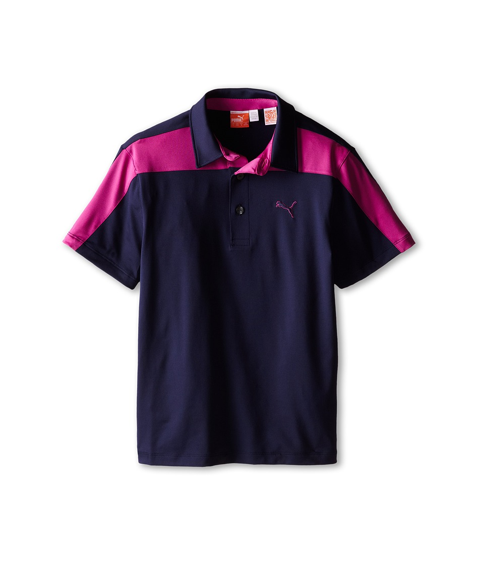 PUMA Golf Kids - CB Tech Polo (Big Kids) (Peacoat/Vivid Viola) Boy's Short Sleeve Knit