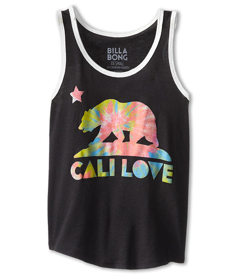 Billabong Kids - Cali Love Bear Ringer Tank (Little Kids/Big Kids) (Off Black) Girl's Sleeveless