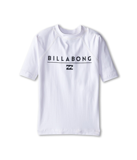 Billabong Kids - All Day S/S Rashguard (Toddler/Little Kids/Big Kids) (White 2) Boy's Swimwear