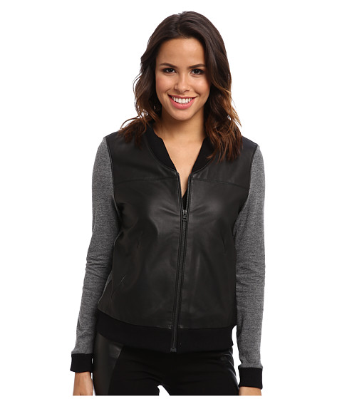 AG Adriano Goldschmied - Channel Bomber in Cavern Heather/Black (Cavern Heather/Black) Women's Jacket
